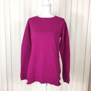 Michael Kors Pink Crew Neck Ribbed Sweater